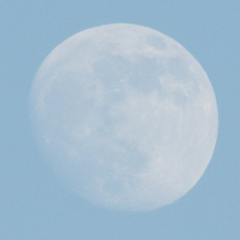 Moon during daytime